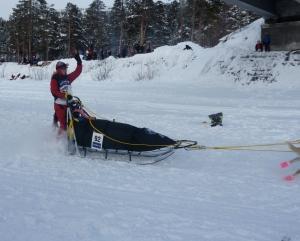 Nina Skramstad start finnmarksløpet
